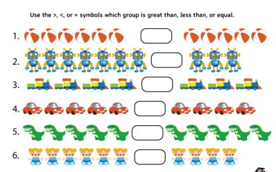Free Printable Greater Than, Less Than, Equal Worksheet
