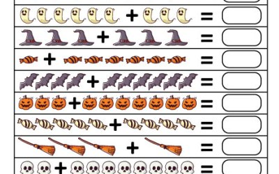 Free Printable Halloween Addition Worksheet PDF