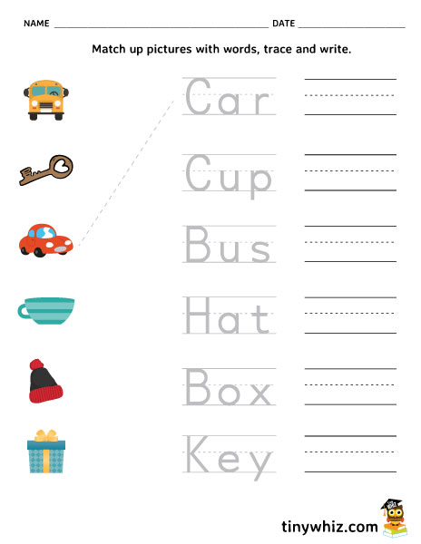 Pre k Math Worksheets - Matching 6 to 10