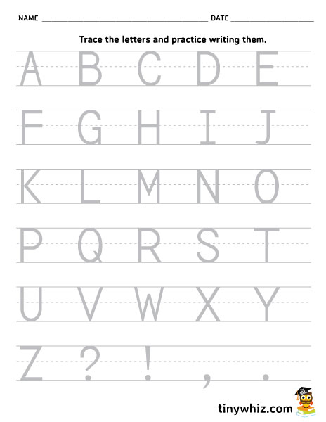 graphic regarding Printable Capital Letters referred to as Cost-free Printable Worksheet Hint And Generate The Alphabet