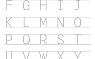 Free Printable Worksheet Trace And Write The Alphabet Capital Letters