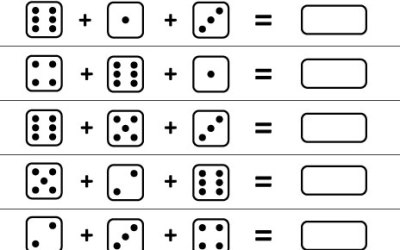 free printable worksheet adding 3 dice - Addition Worksheet