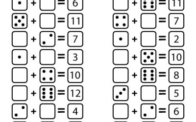 Free Worksheet Draw The Missing Dots: Dice Addition For Kids