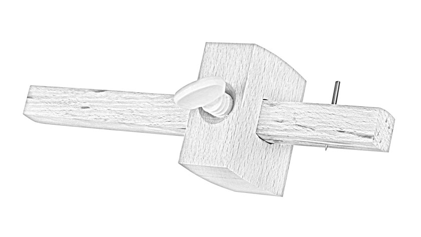 What is a marking gauge - sketch with pin