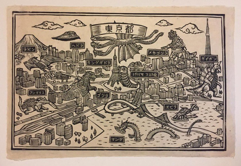 Brian Reedy woodcut artist welcome to tokyo