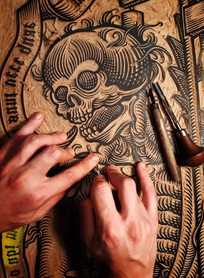 Davide Schileo le mort avec le foliot work in progress