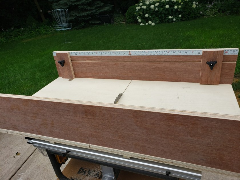 dominic table saw sled