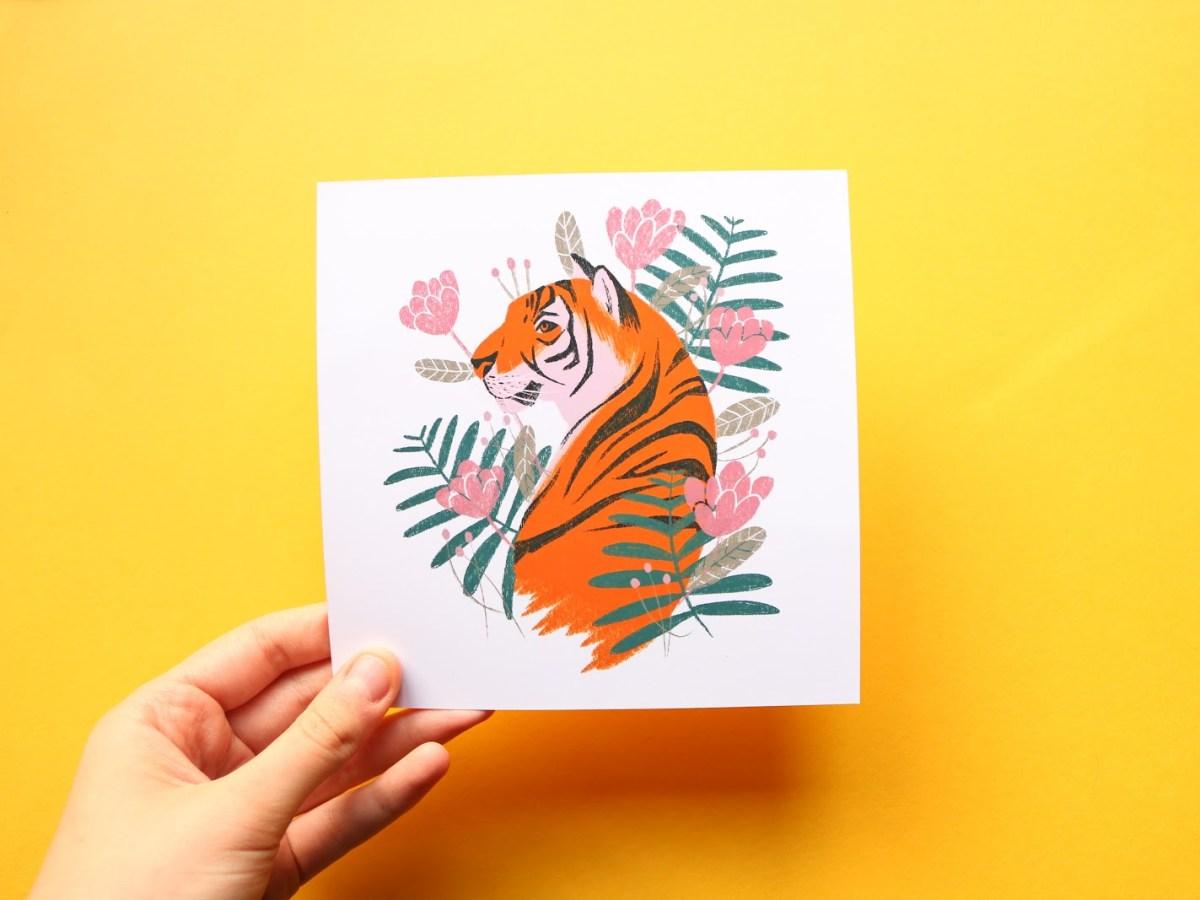 Eliott Bulpett tiger illustration