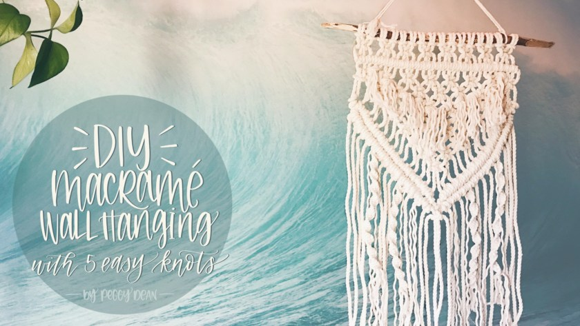 Create a macrame wall hanging using 5 easy knots
