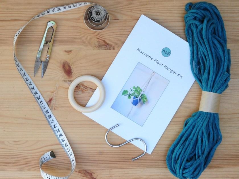 Macrame plant hanger kit by KnotsAndShots