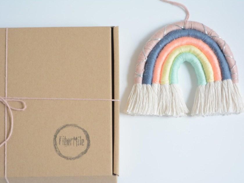 Rainbow macrame kit by FiberMile