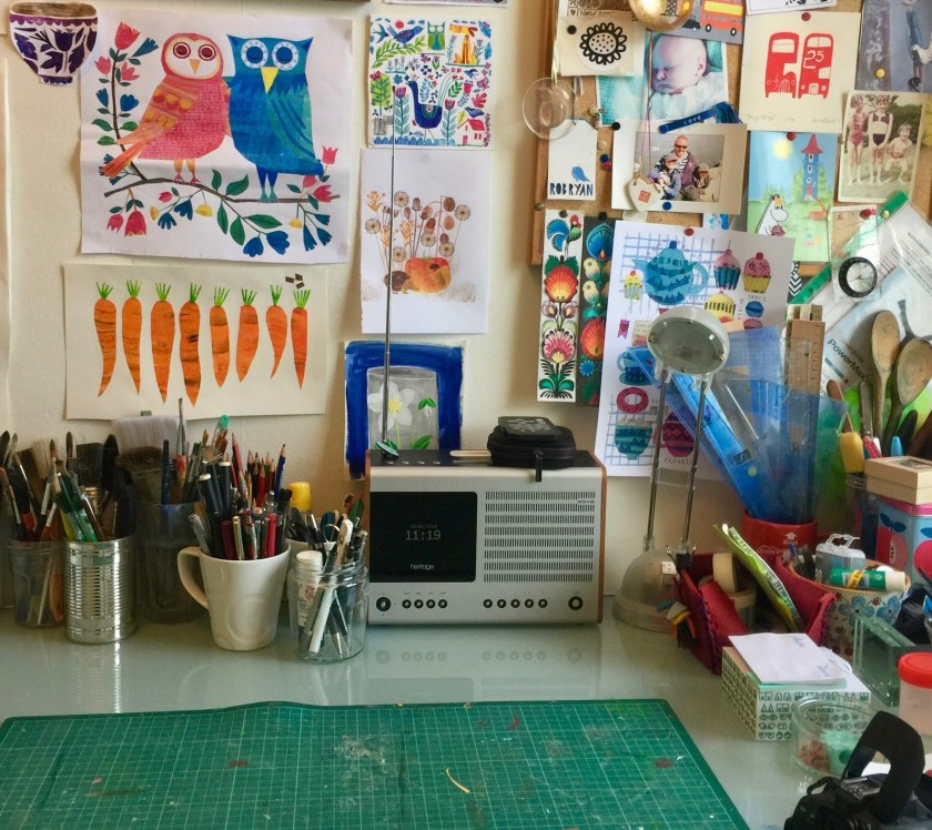 Tracey English art studio 2
