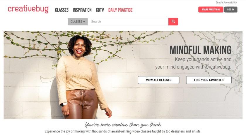 What is Creativebug - homepage