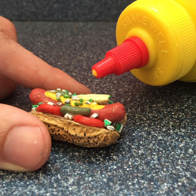 Steve Casino peanut hot dog art
