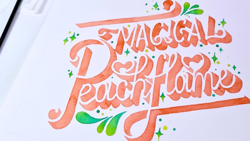 Hand Lettering and Beyond Negative Space 3D Lettering with Watercolors Skillshare