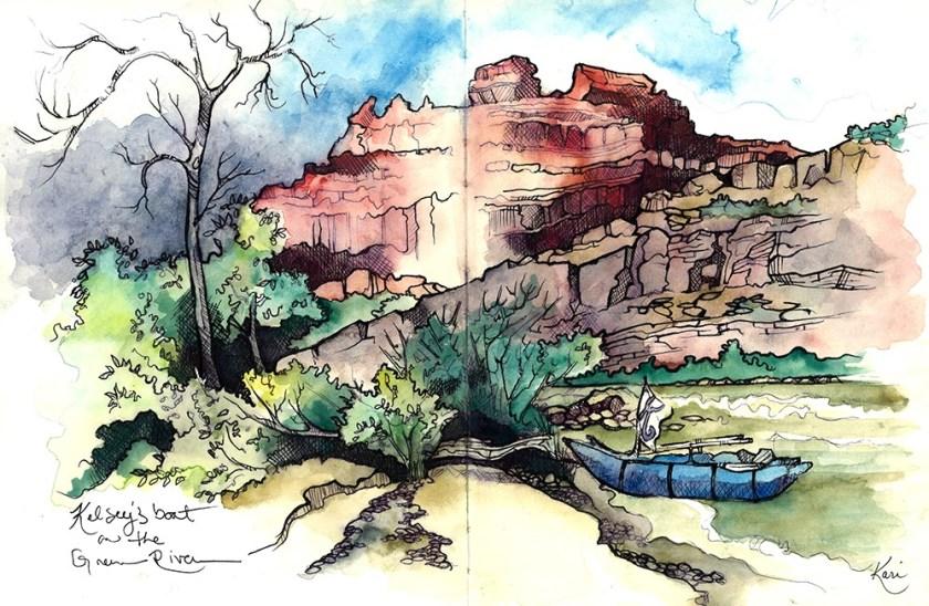 Kari Gale Greenriver watercolor painting