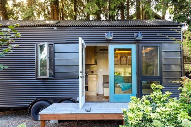 Kari Gale Tiny House outside
