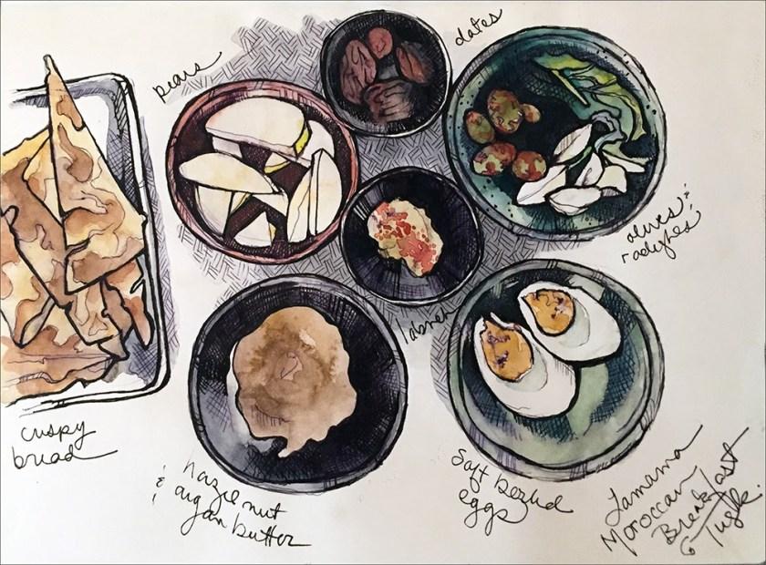 Kari Gale tuskrev moroccan breakfast