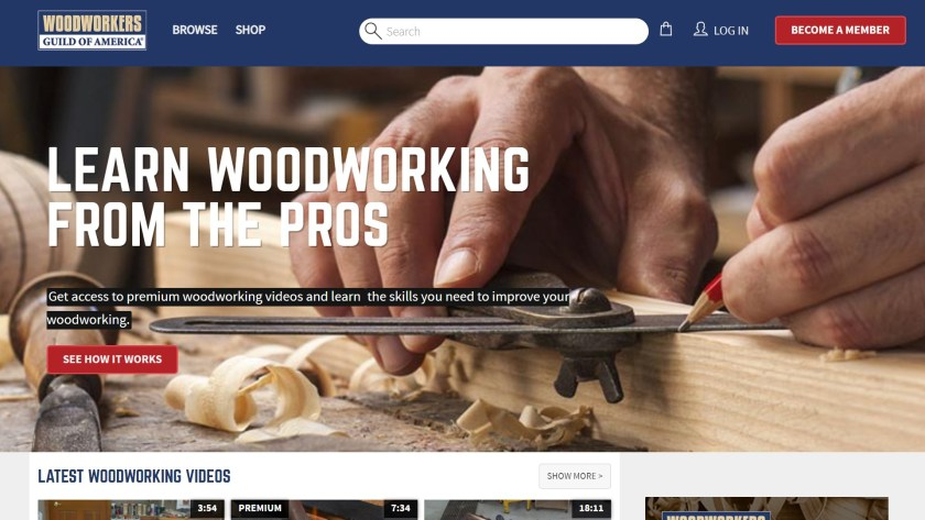Woodworkers guild of America woodworking classes