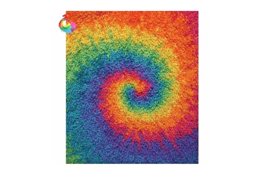 Abstract latch hook rug making kit