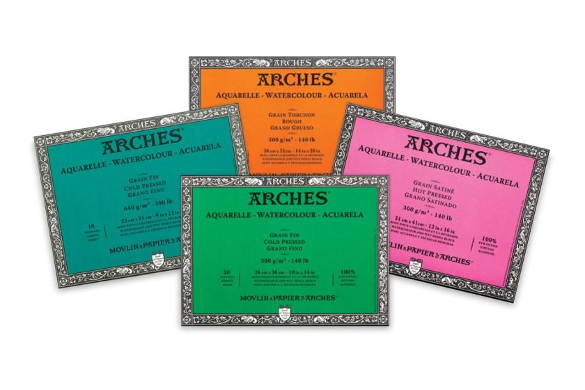 Arches watercolor blocks