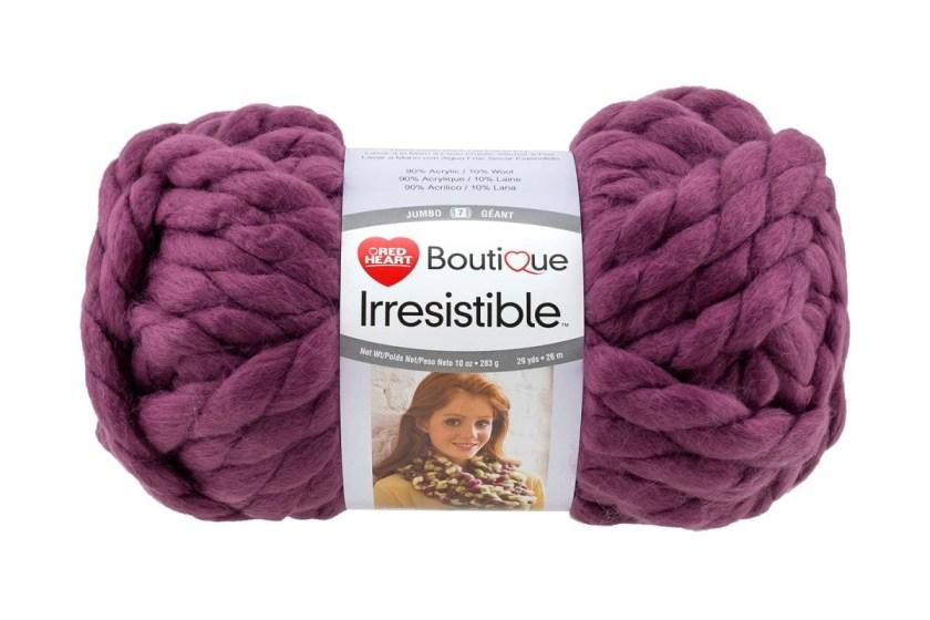 Red Heart Irresistible super chunky yarn