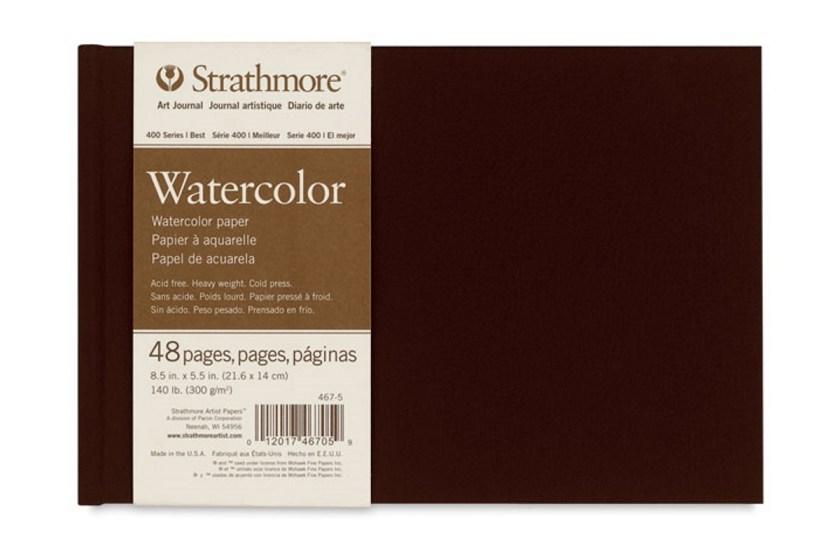 Strathmore 400 series Watercolor sketchbook journal