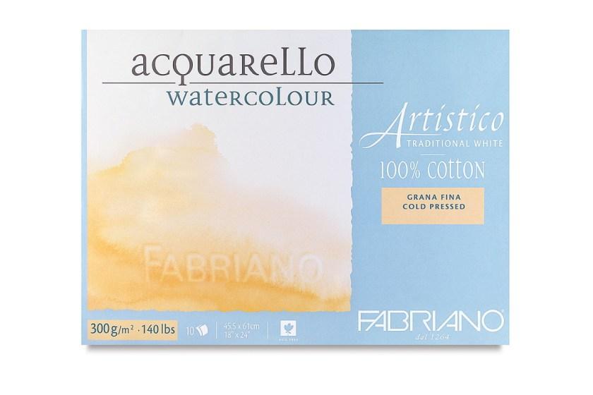 Fabriano cotton watercolor block