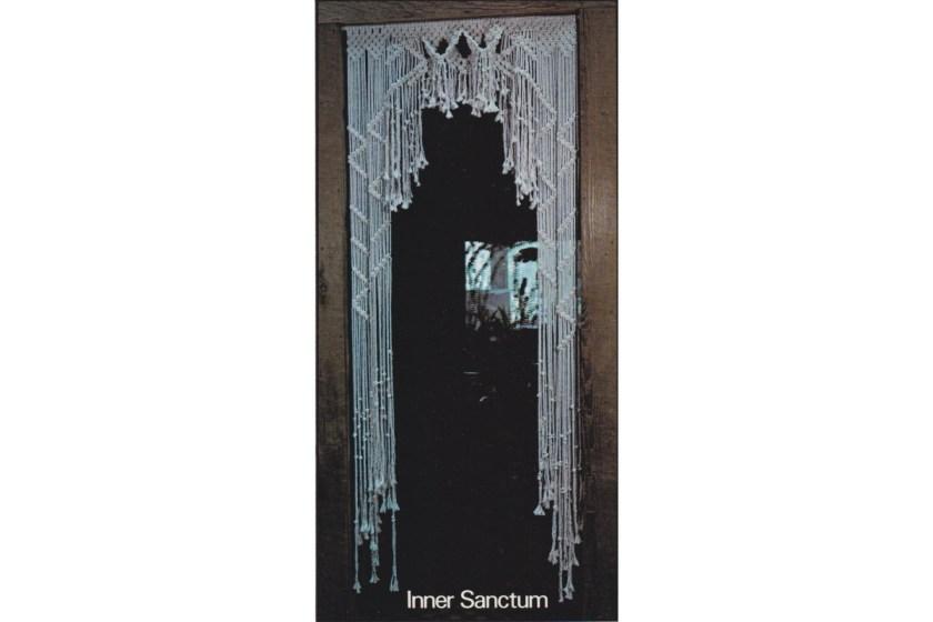 Inner Sanctum macrame curtain pattern