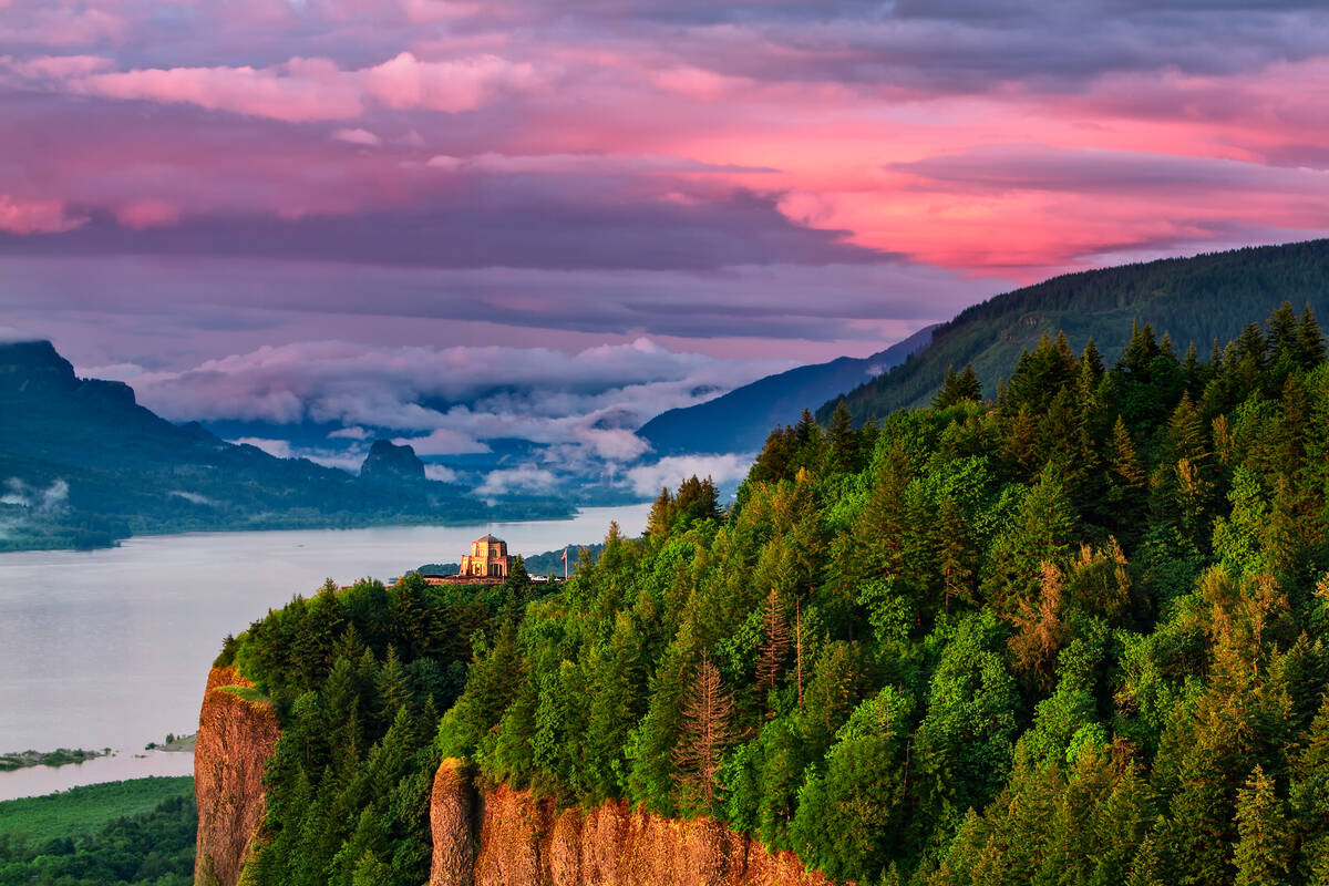 Multnomah Falls Oregon Wallpaper Bezienswaardigheden Portland Oregon Tioga Tours