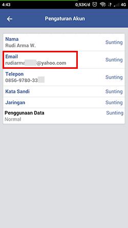 Cara Melihat Email Facebook : melihat, email, facebook, Melihat, Password, Sendiri, Pengaturan, Tipandroid