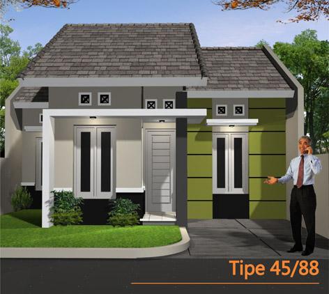 Contoh Denah Rumah  Minimalis  Type  45  Tipe Rumah  Minimalis