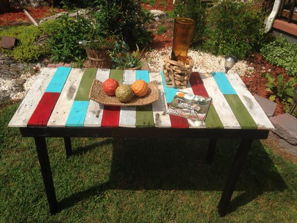 Contoh Meja Outdoor Sederhana