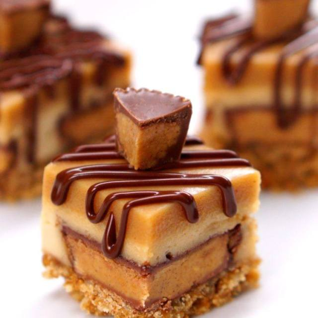 Bite Size Cheese Cake: Peanut Butter Cup Cheesecake Bites - Recipe