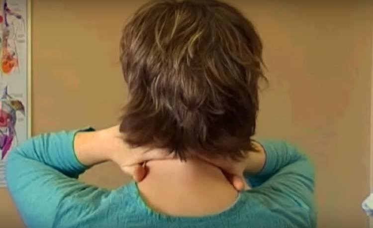 Massage back of neck to clear sinuses