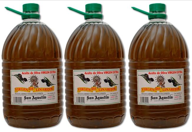 Aceite Linarejos, oliva virgen extra sin filtrar, pet 5 l x 3