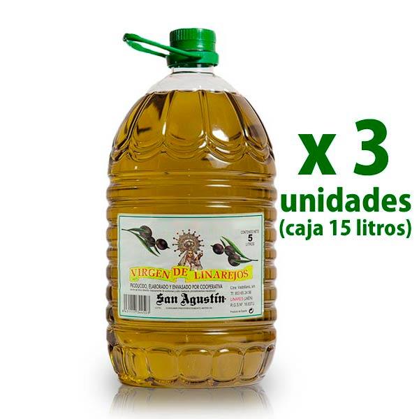 foto de una garrafa de 5 litros de aceite linarejos (3 uds)