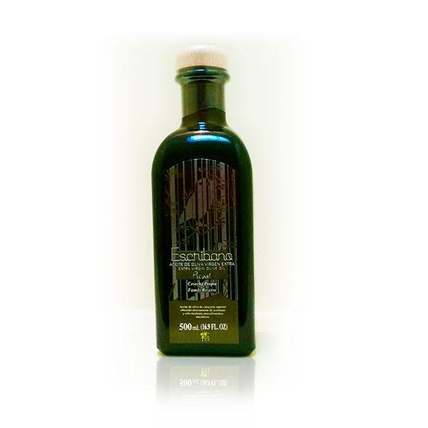 foto aceite de oliva de Jaén - vidrio escribano 500 ml