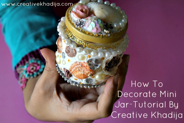 how to decorate glass jar with collage