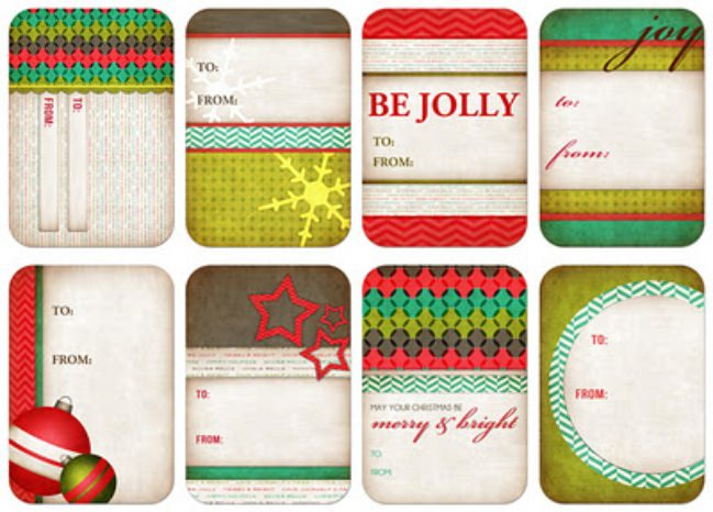 Free Personalized Christmas Gift Tags