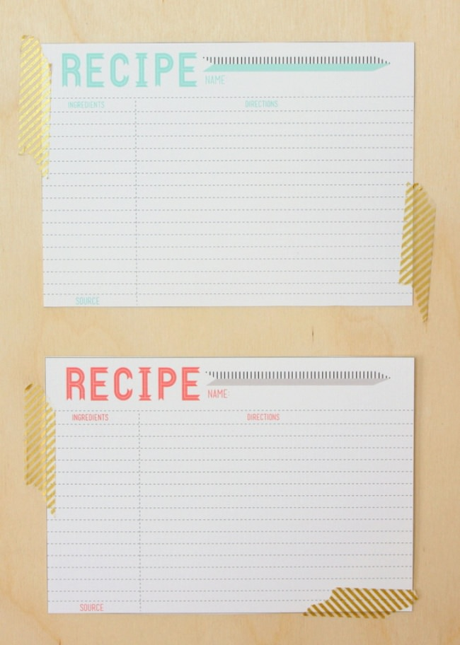 10 Printable Recipe Card Templates Free Tip Junkie