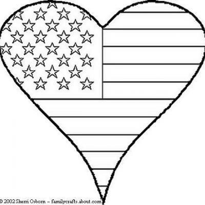 patriotic heart coloring sheet