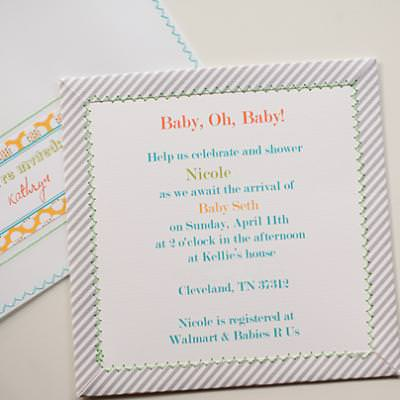Diy Baby Shower Invitation Handmade Card Ideas Tip Junkie