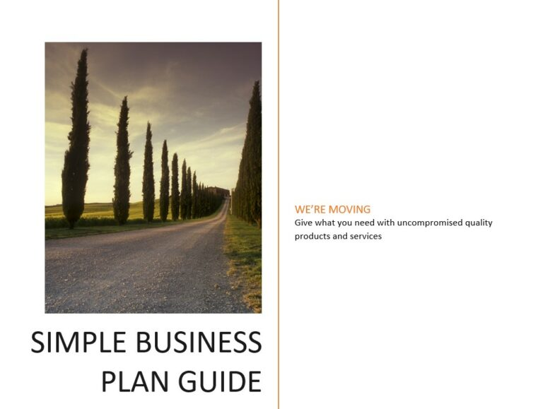 simple business plan plus BEP tools