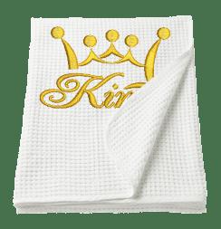 Вафельное полотенце с вышивкой