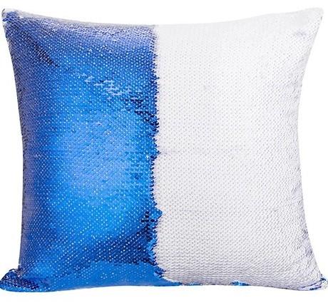 Подушка с пайетками с печатью (40*40 см)