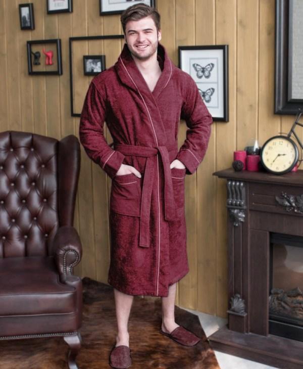 Махровый халат Капюшон с индивидуальной вышивкой