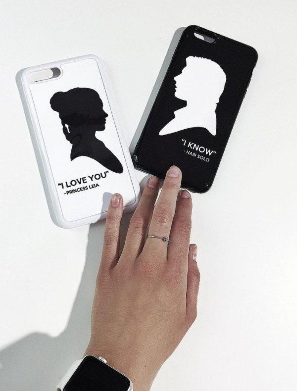 Силиконовый 2D чехол для iPhone с печатью