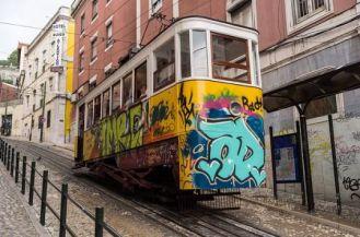 arte callejero tranvia