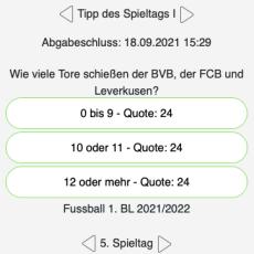 Der fünfte Tipp des Spieltags: Wie viele Tore schießen der BVB, der FCB und Leverkusen?